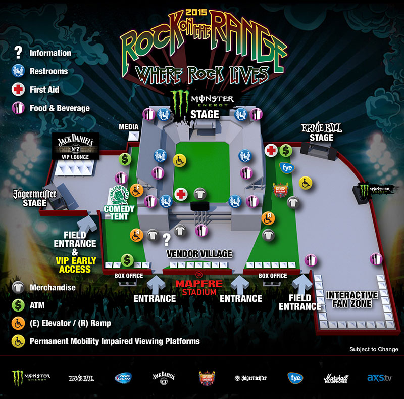 rock on the range ステージ